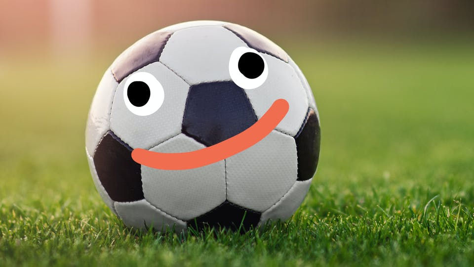 football with a happy face