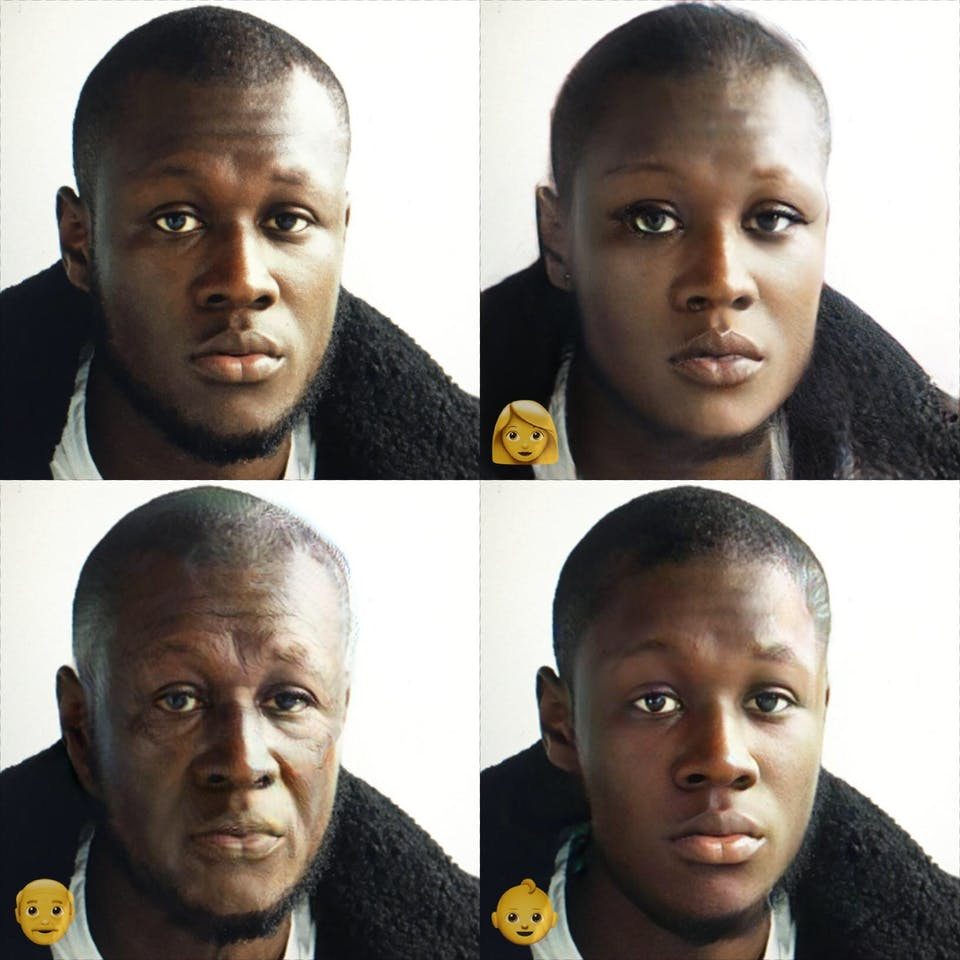 Stormzy, put through FaceApp