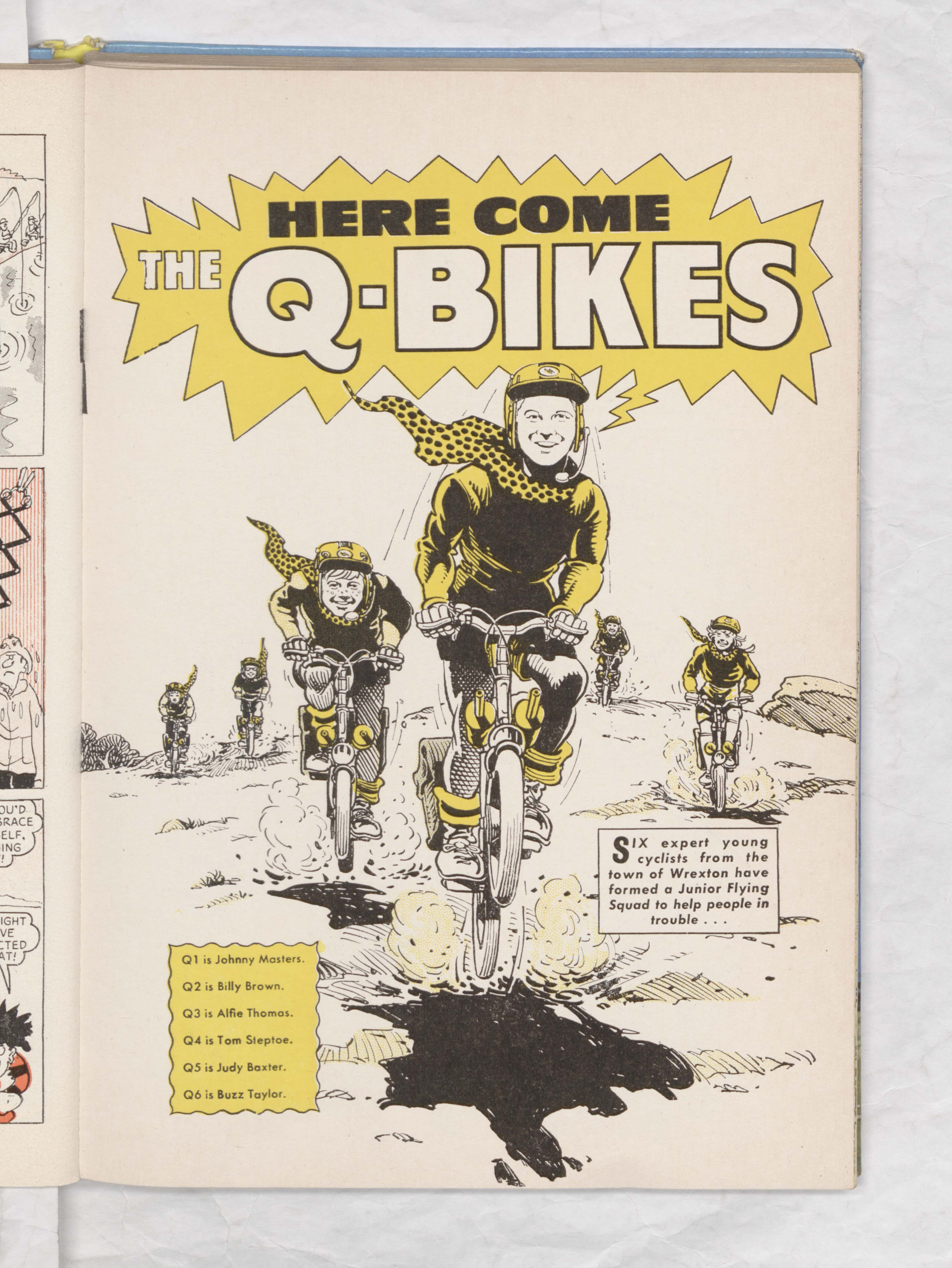 Beano Book 1970 - Q-Bikes - Page 1