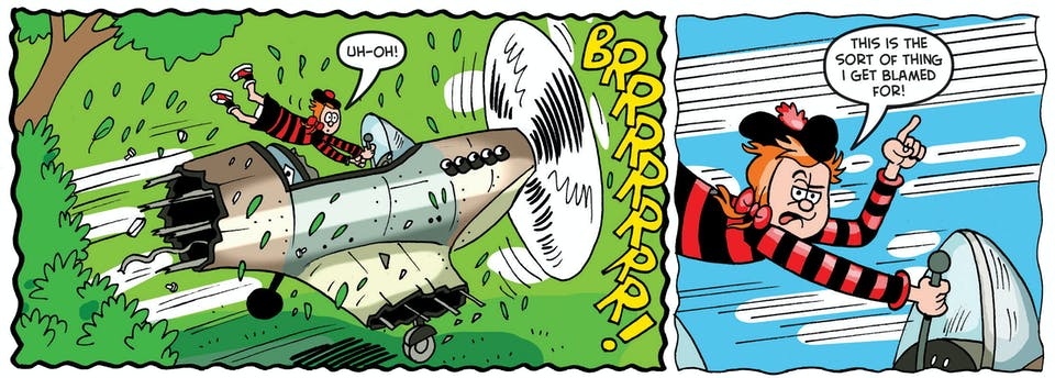 1.The Minx flies into trouble when she discovers an abandoned World War II plane!
