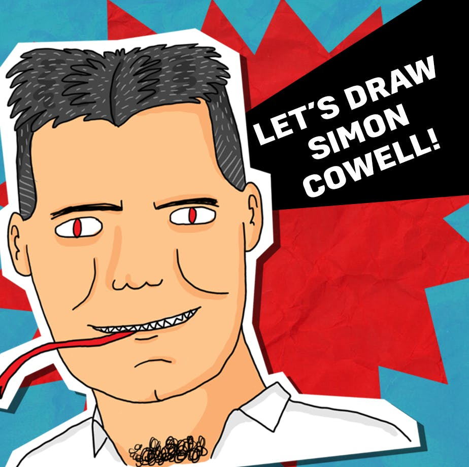 let's draw a Simon Cowell