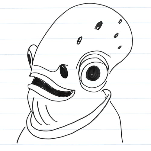 Drawing of Ackbar