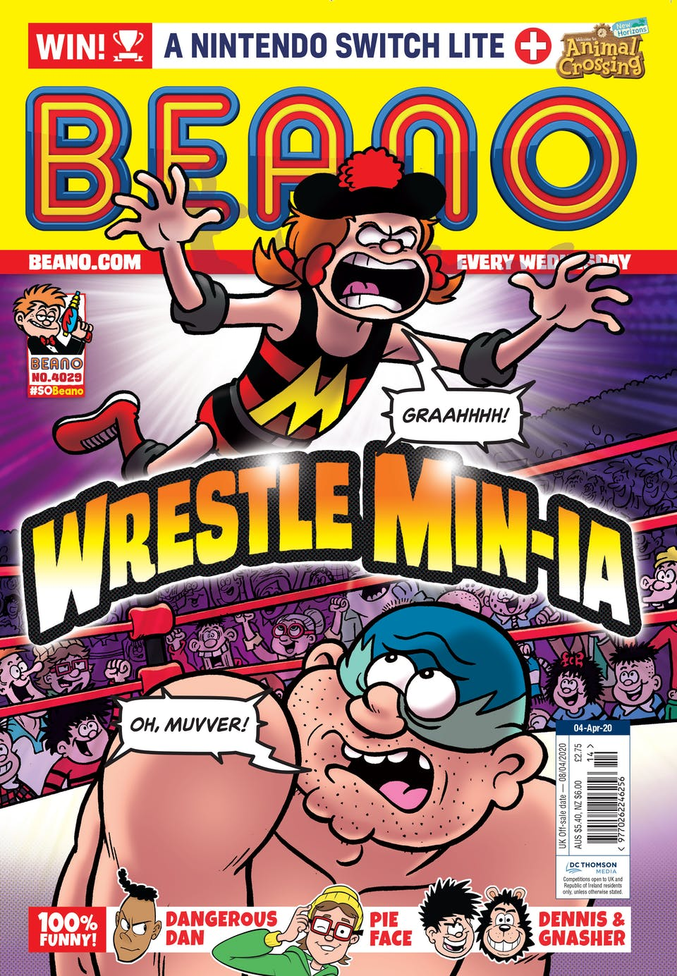 Inside Beano 4029 -  Watch out! Min's in the ring!