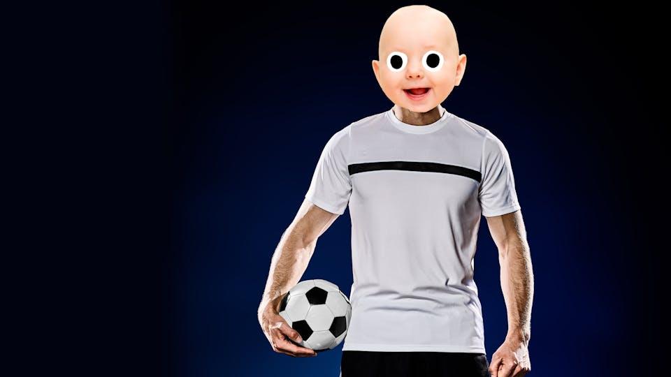 baby footballer