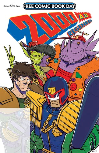 2000AD Regened comic cover