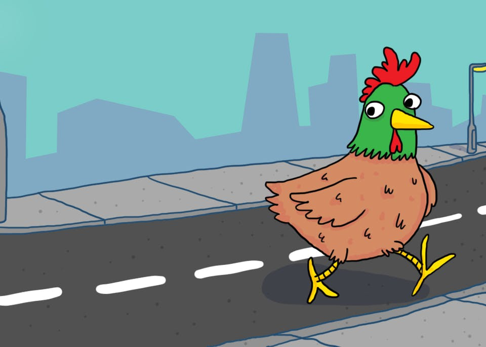 why is the chicken crossing the road jokes on beano com