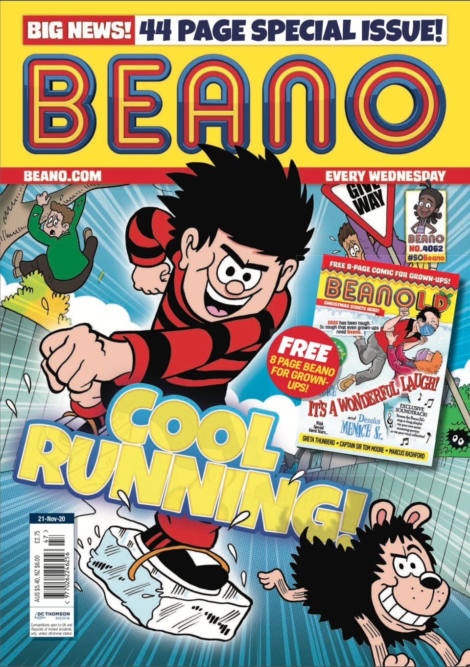 Inside Beano no. 4062 - The Coolest Kid in Beanotown!