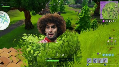 Fortnite Hiding in a bush!