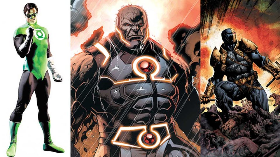 Green Lantern, Darkseid and Deathstroke