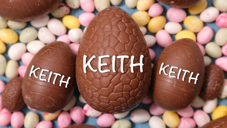 Keith's chocolate Easter eggs