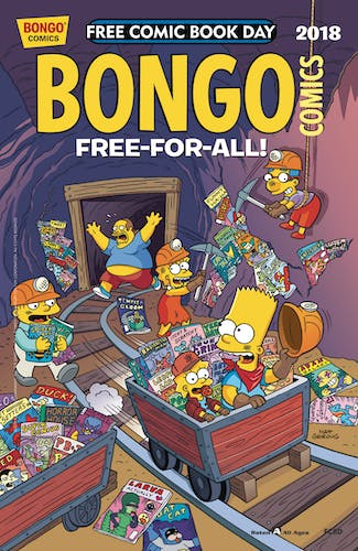 simpsons free comic cover