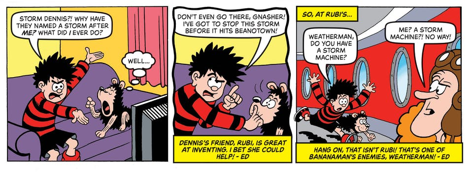 Inside Beano no.4055  - Dennis & Gnasher