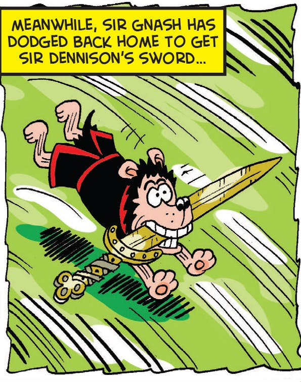 Sir Gnasher makes a dash
