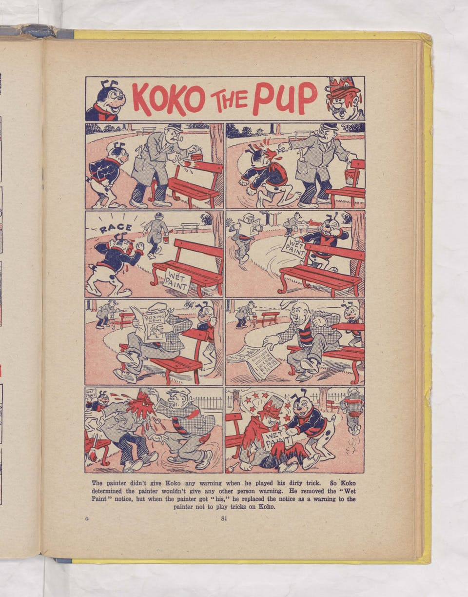 Beano Book 1944 Annual - Koko the Pup in the park
