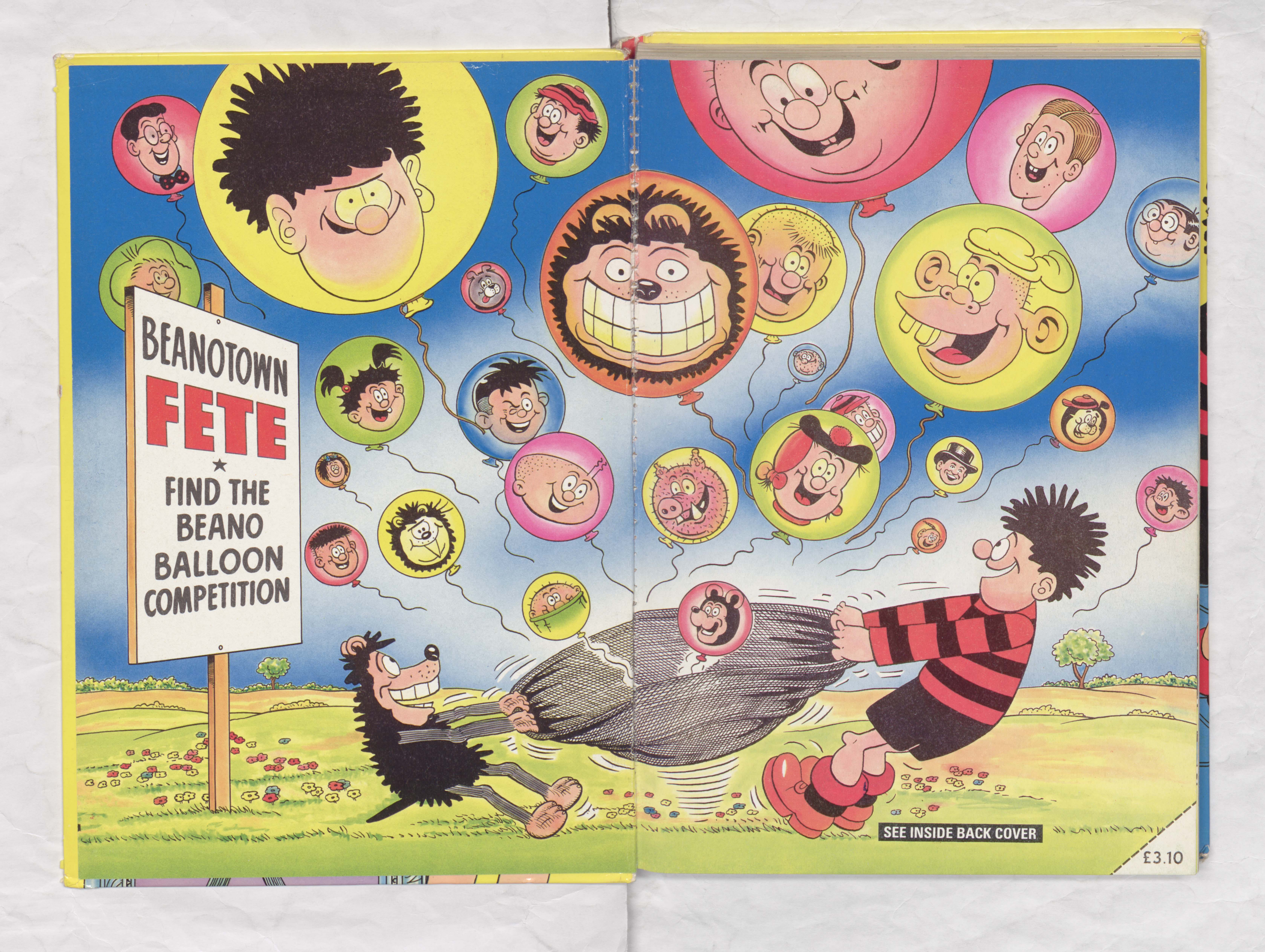 Colour Beano Book 1989 Annual