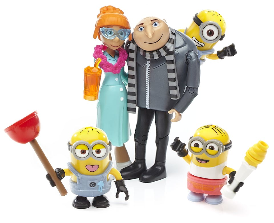 Gru and Lucy and Minions mega construx