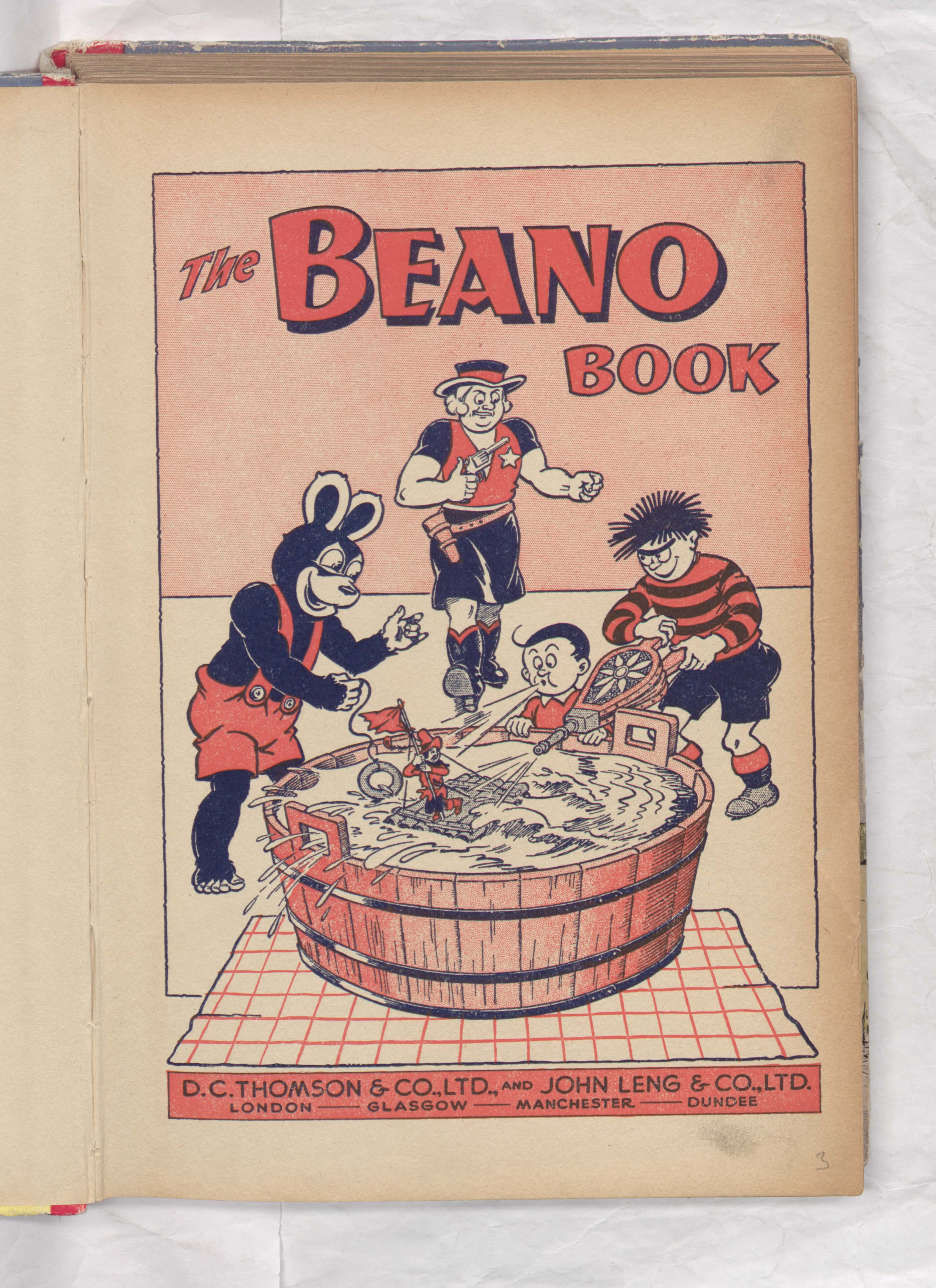 welcome beano book biffo ding dong belle 1953 annual