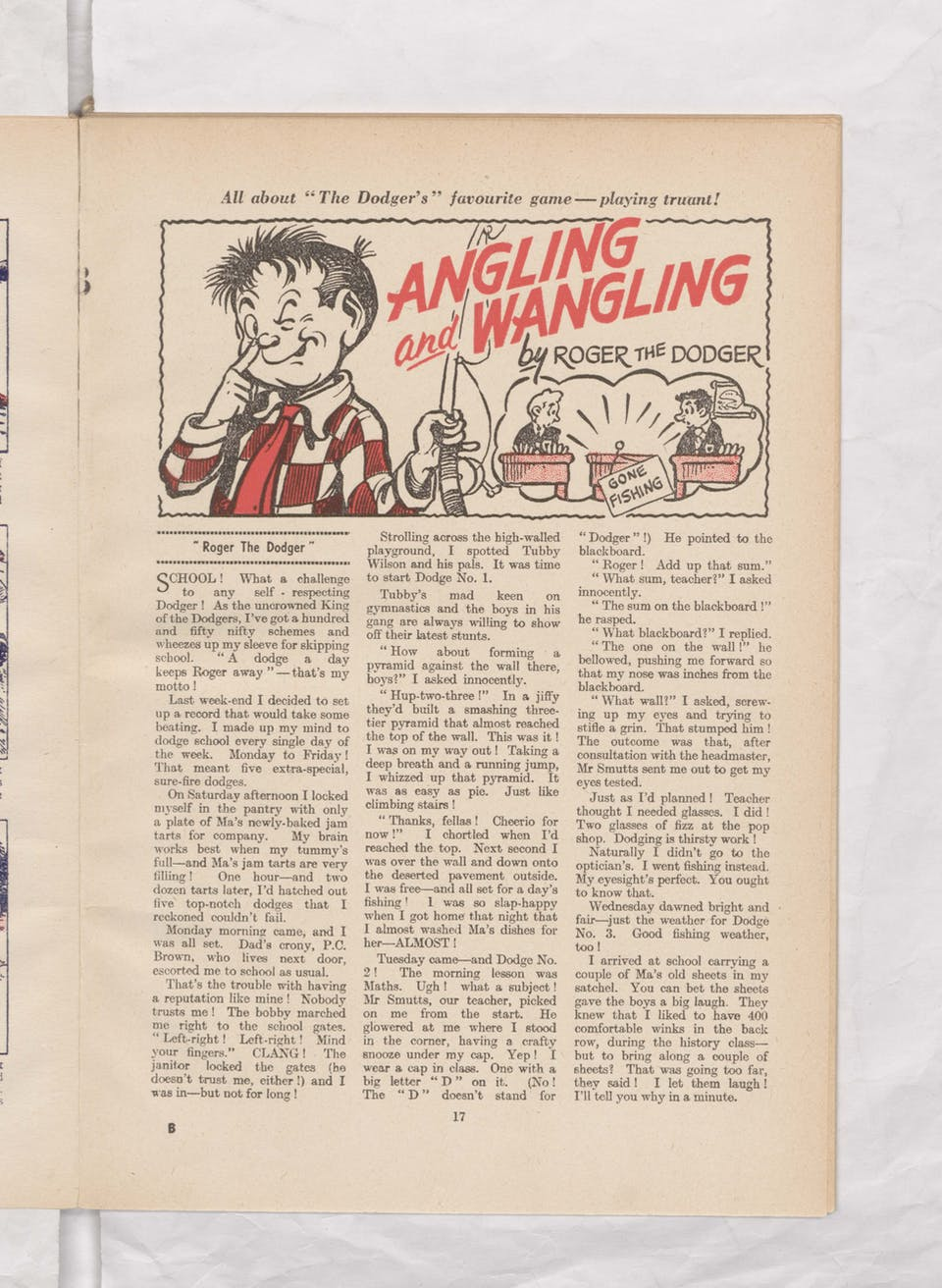 roger the dodger beano book 1958 annual