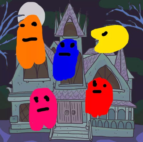 house haunted by pacman and ghosts