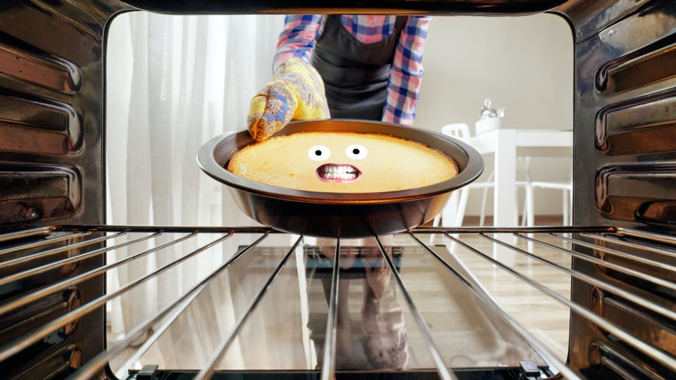 A cake in the oven