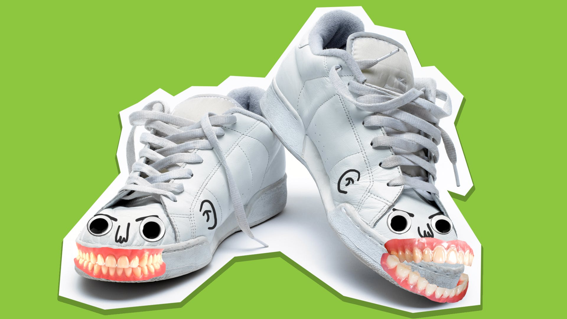 Scary face shoes