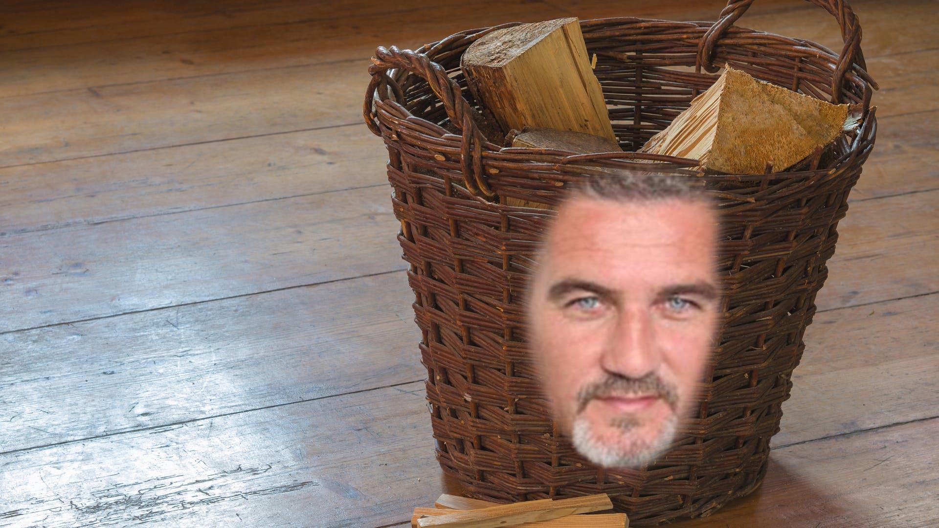 Paul Hollywood on a basket