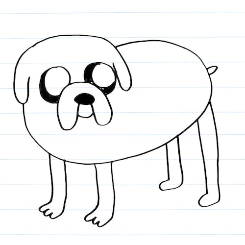 Drawing of Jake the dog