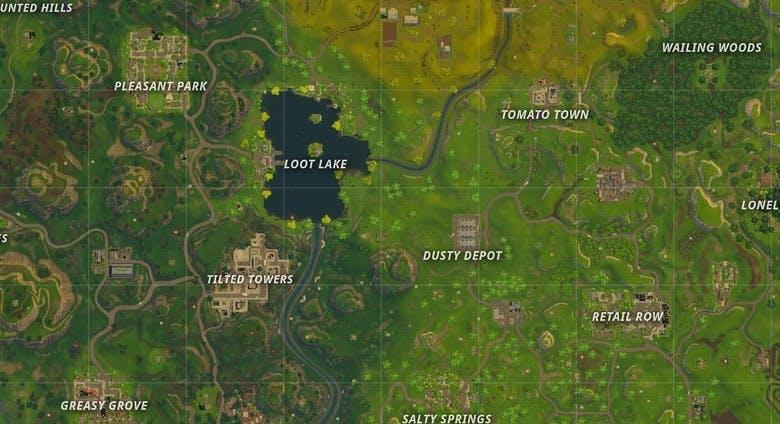 Map in Fortnite
