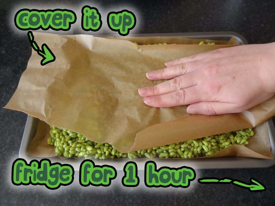 Cover it up, and put it in the fridge for 1 hour