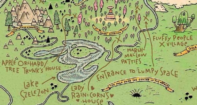 Map of Ooo | Adventure Time | Cartoons on Beano.com