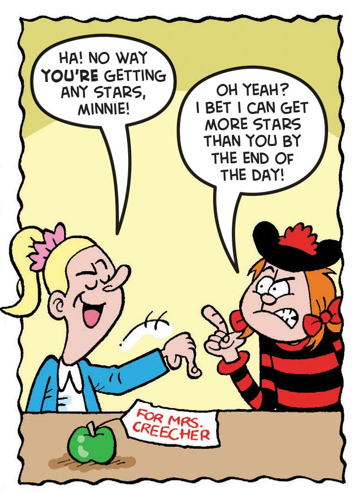 Minnie the Minx and Soppy Susan from Beano