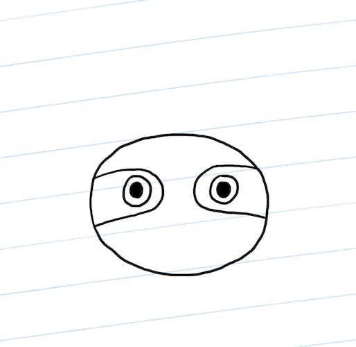 Sloth eyes and markings