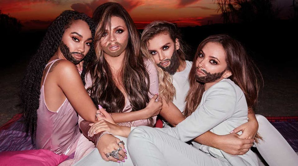Little Mix with beards