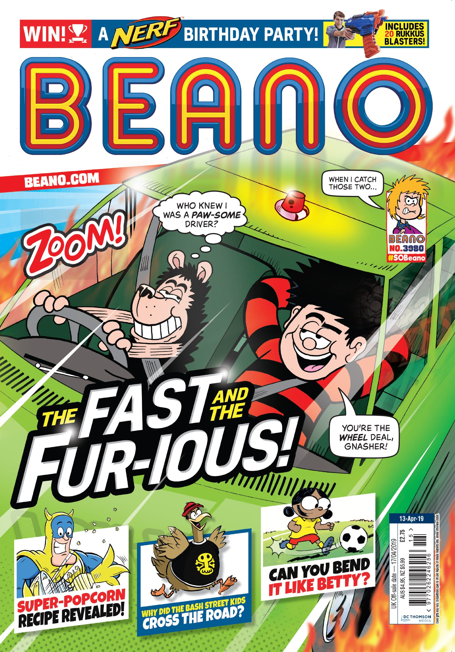 Issue 3980: The Fast and the Fur-ious!