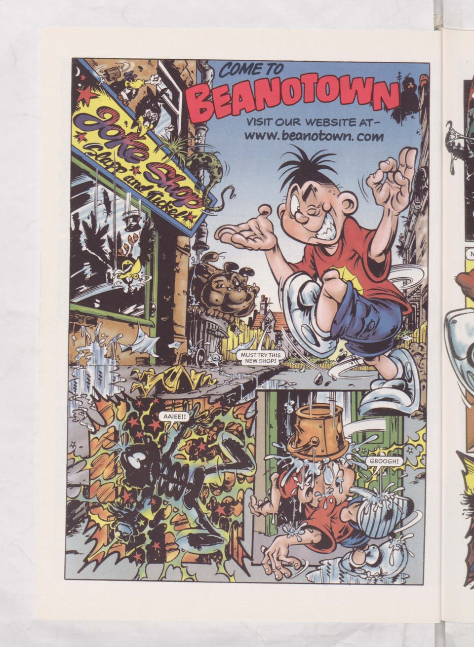 Web Boy Visits Beanotown - Beano Book 2003 Annual