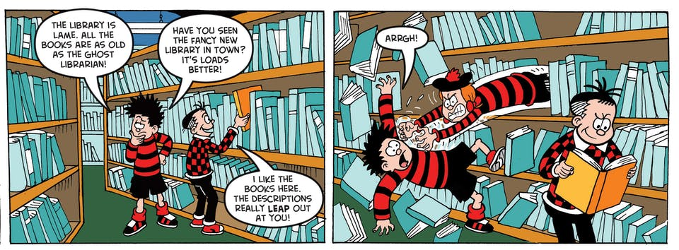 Adventures in the Beanotown library