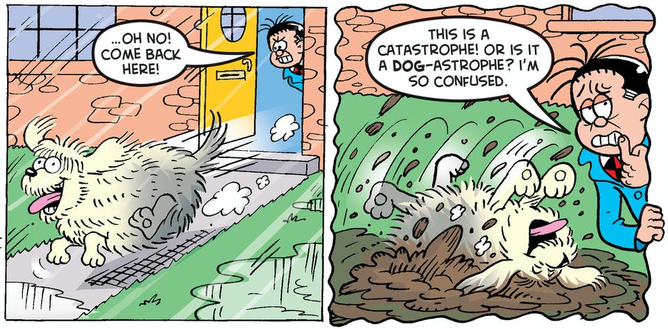 Roger's barking up the wrong tree if he thinks he can dodge his way out of this sticky situation!