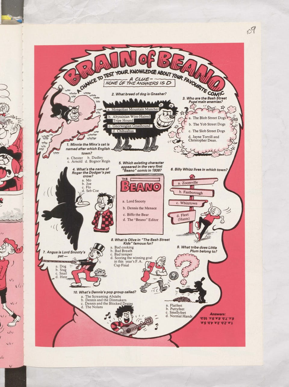 Brain of Beano Beano Book 1988 Annual