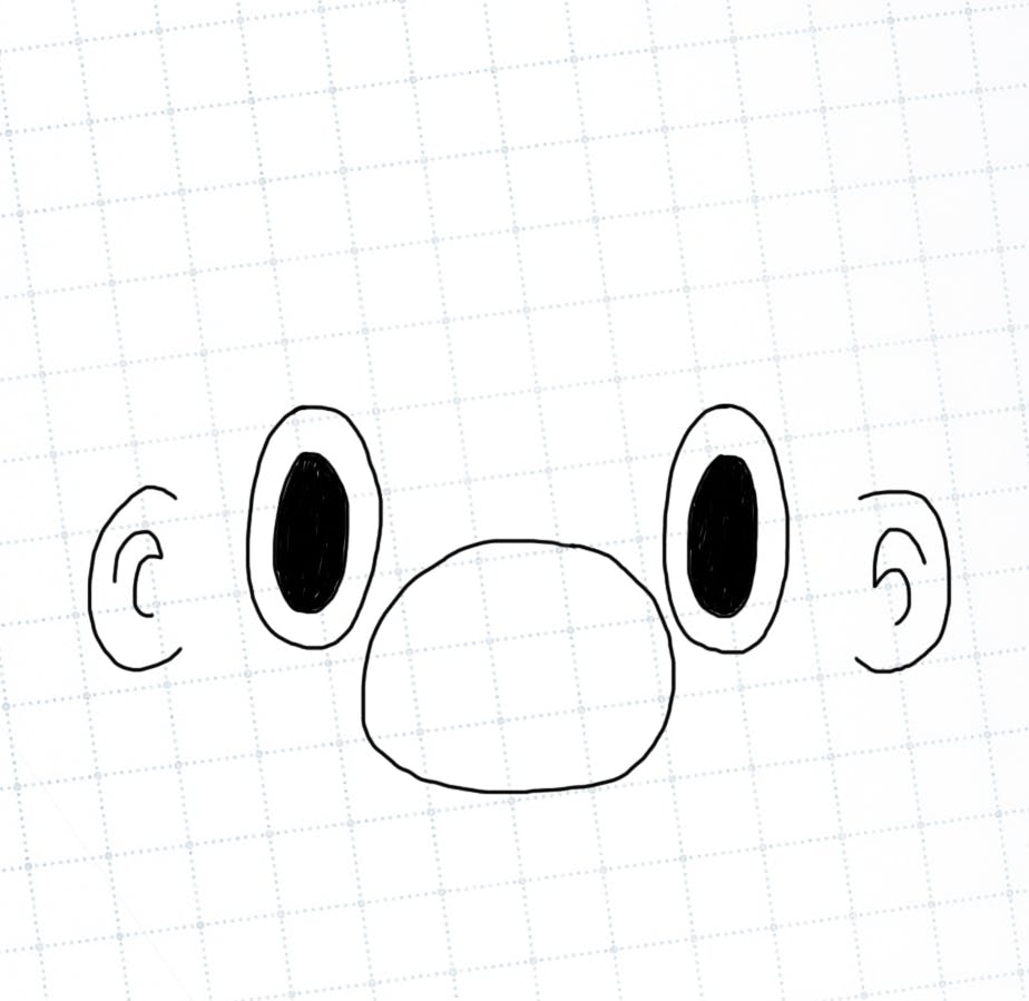 Mario nose, eyes and ears