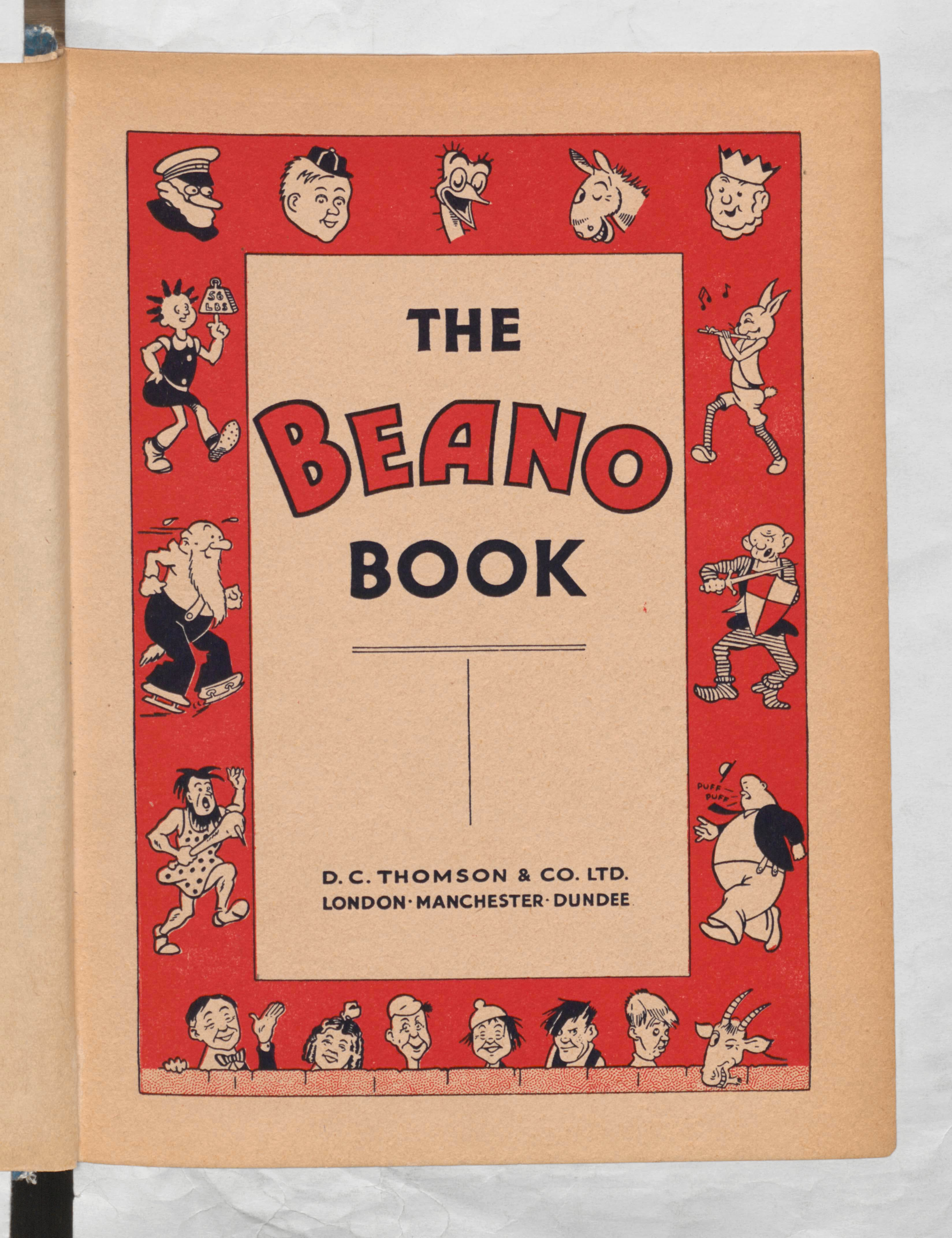 The first Beano Book - 1940