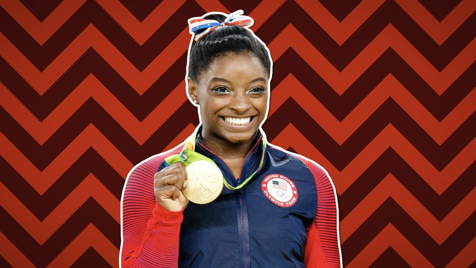 Simone Biles wins gold at the 2016 Summer Olympic Games in Rio De Janeiro