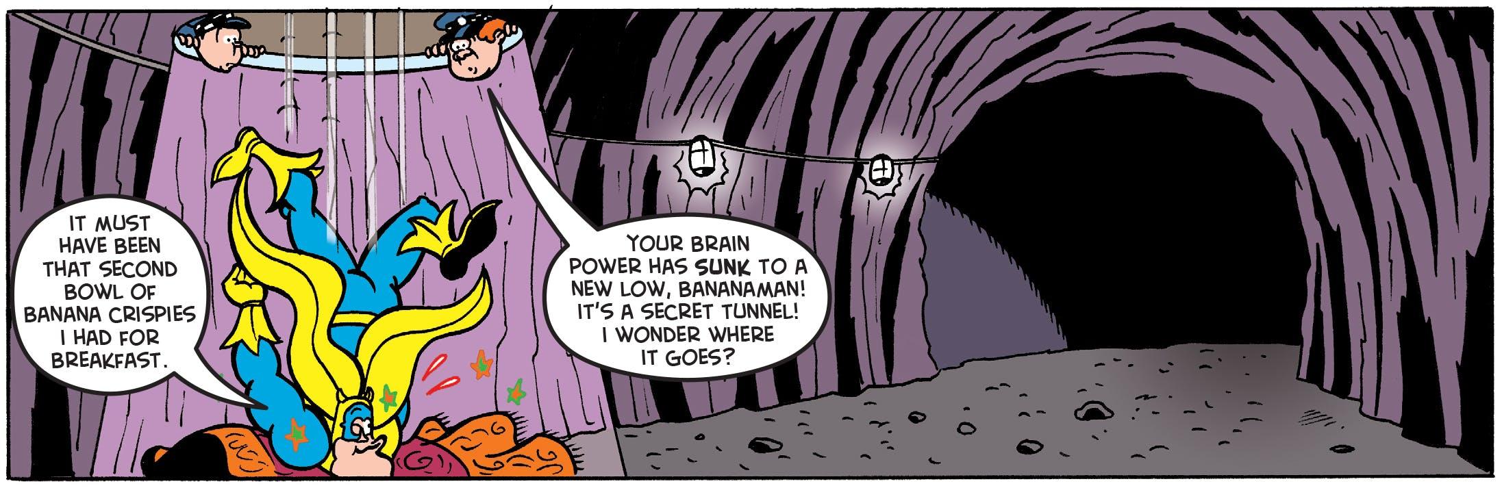Bananaman digs deeps into the criminal underworld.