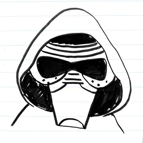 Drawing of Kylo Ren