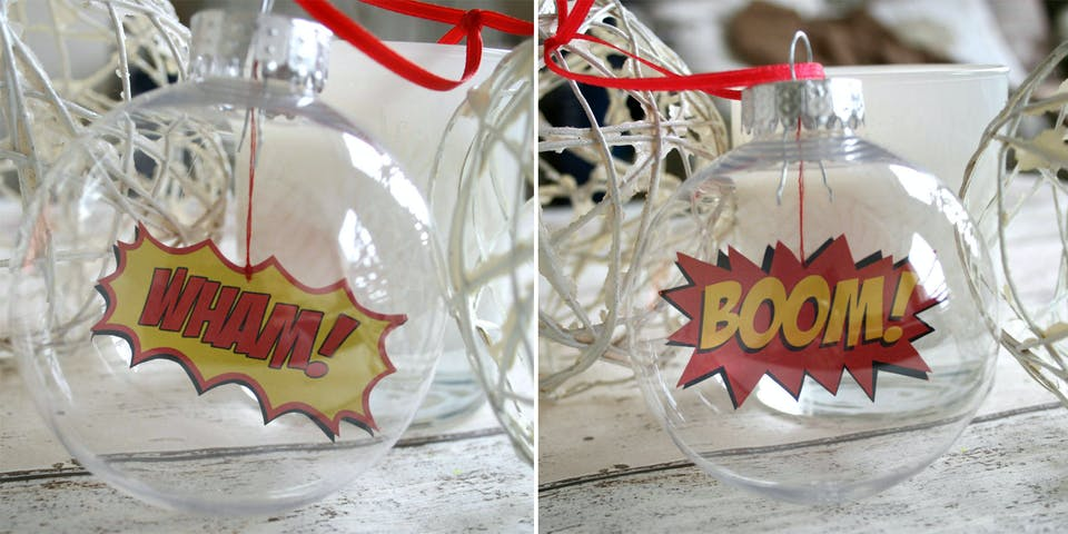 Comic Book baubles