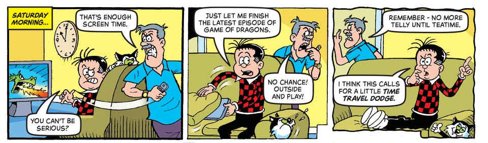 Inside Beano no. 3994 - Roger the Dodger