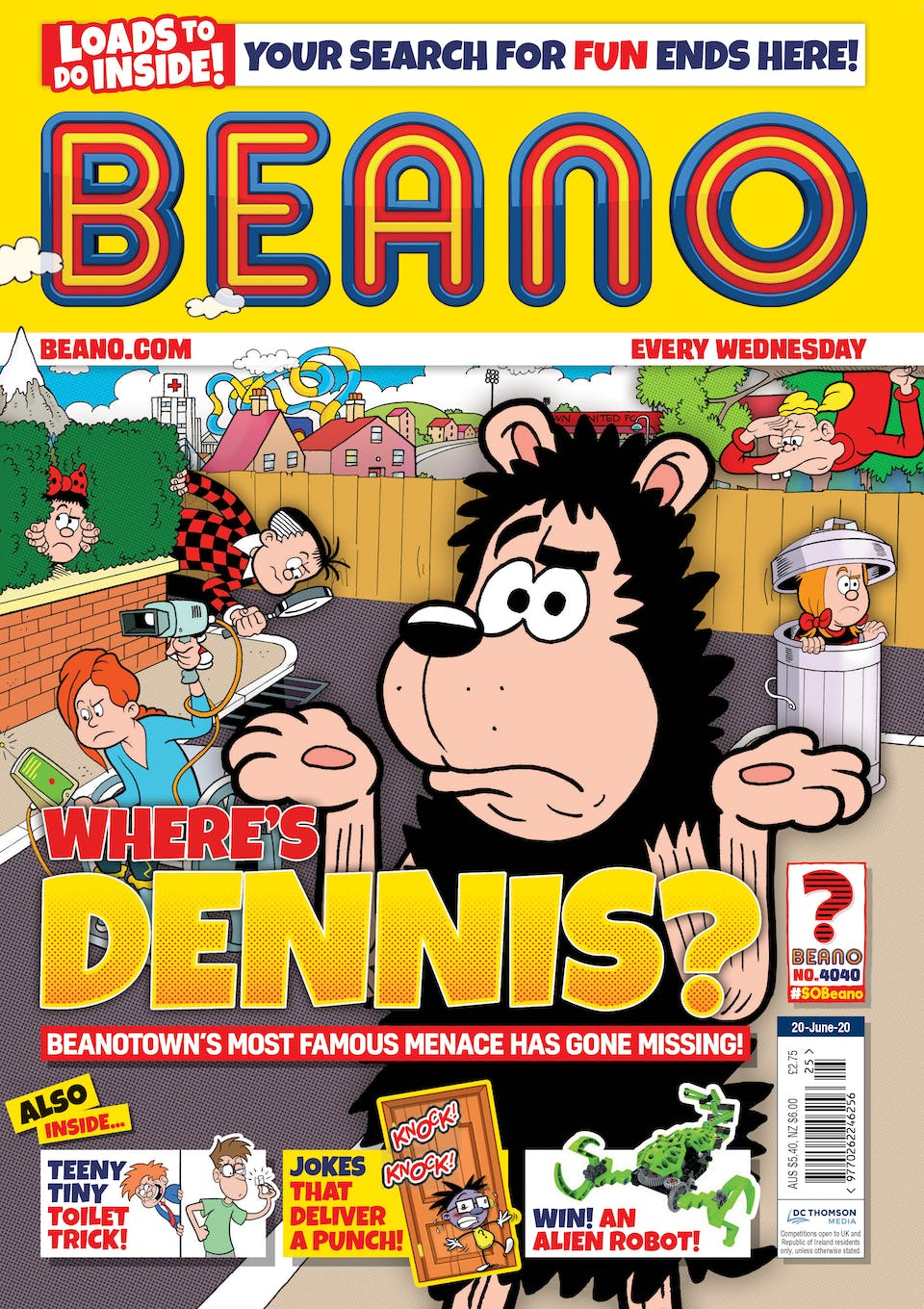 Inside Beano Issue 4040 - Where's Dennis?