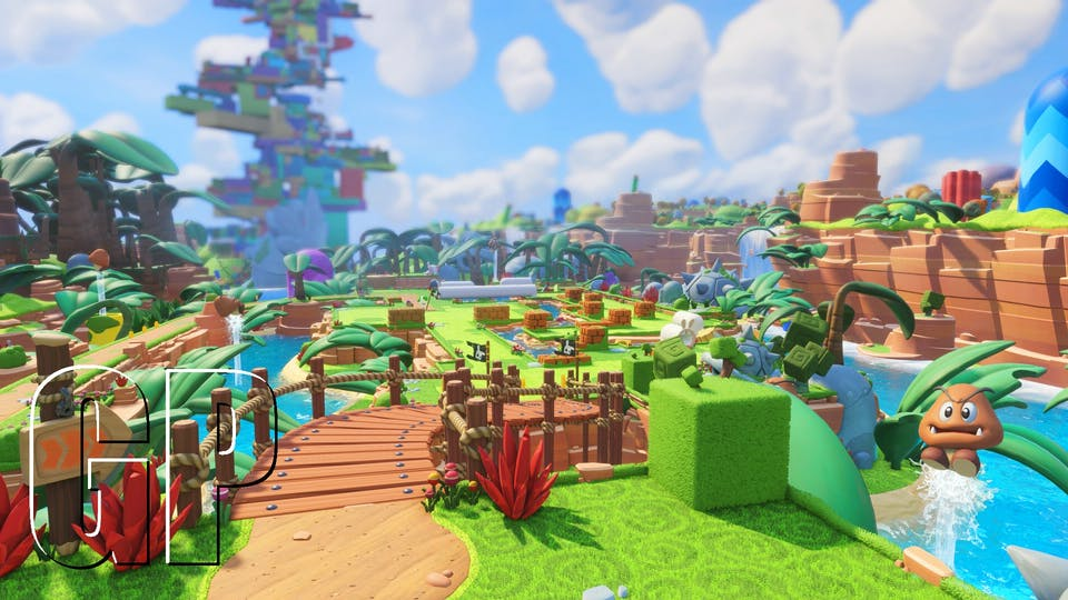 The huge world in Mario + Rabbids!