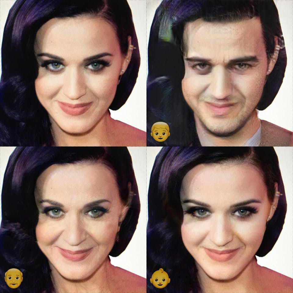 Katy Perry put through FaceApp