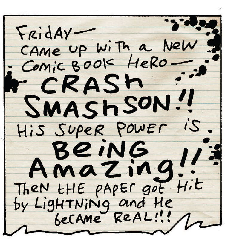 Crash Smashson origin story and character bible