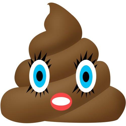Katy Perry as a poop emoji
